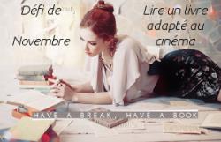défi de novembre 2014 - have a break,have a book