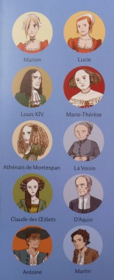 Les orangers de Versailles BD - Les personnages