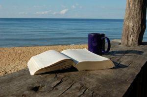 livre tasse bord de mer