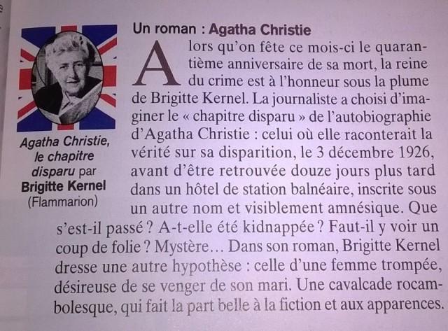 Agatha Christie - Le chapitre disparu